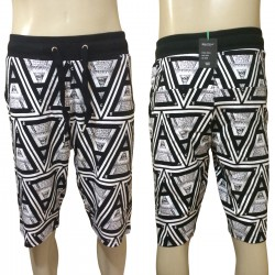 Wholesale Drawstring Illuminati Printed Jogger Shorts 6pc Pre-packed