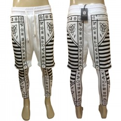 Square Zero Ancient Script Leggings Shorts 6pc Pre-packed - White