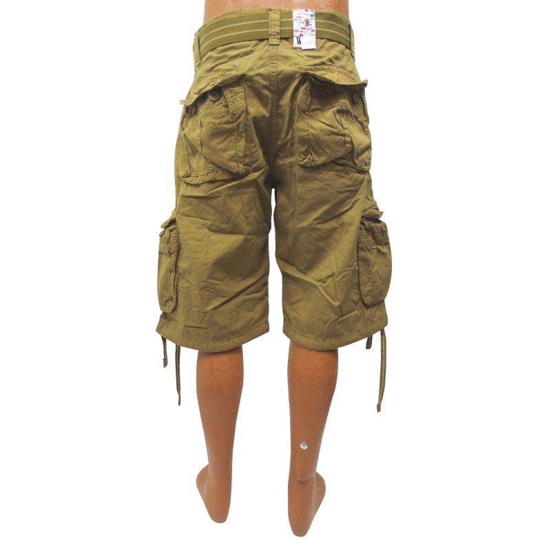 Wholesale Focus Cargo Shorts with Belt 6pc Pre-packed - TB