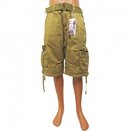 Wholesale Focus Cargo Shorts with Belt 6pc Pre-packed