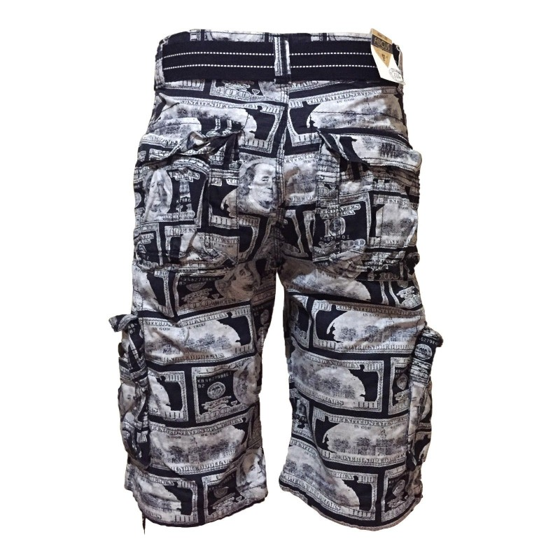 Wholesale Focus Money Style Cargo Shorts 6pc Pre-packed
