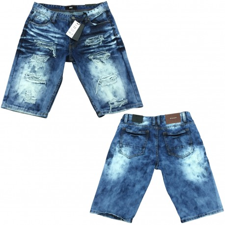 Wholesale Men's Ripped Distressed Denim Shorts 12pc prepacked