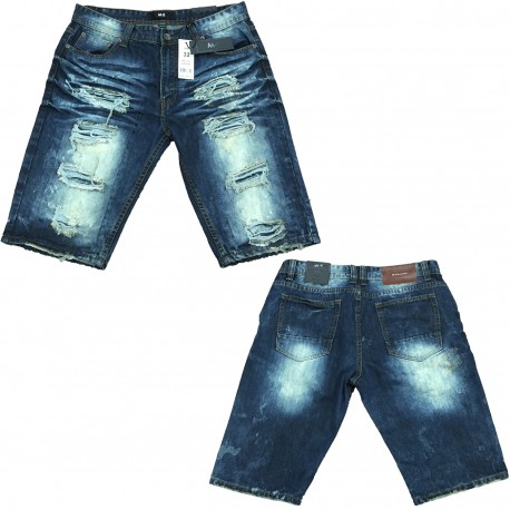 Wholesale Men's Ripped Distressed Denim Shorts 12pc Pre-packed