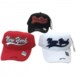 New York Embroidered Hats 12pc Pre-packed