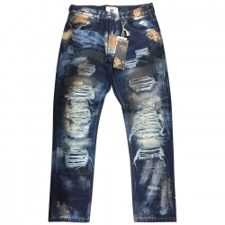 Wholesale Mens Smoke Rise Ripped Jeans 12pcs Pre-packed