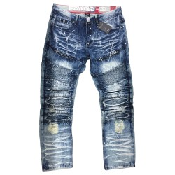 Wholesale Men's Switch Biker Distressed Jeans 12pcs Pre-packed