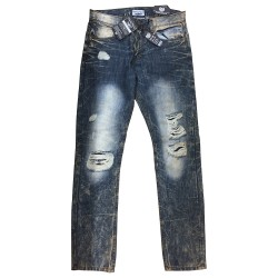 Wholesale Men's Twenty Two oz Distressed Jeans 12pcs Pre-packed