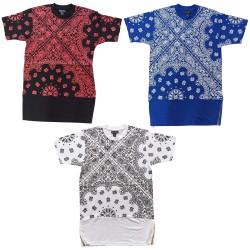 Wholesale Bare Fox Men's Long T-Shirt w/Zipper 6pcs Pre-packed