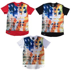 Wholesale Switch US Flag Men's T-Shirt 6pcs Pre-packed