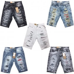 Men's Bleecker & Mercer Distressed Denim Shorts 12pcs Pre-packed