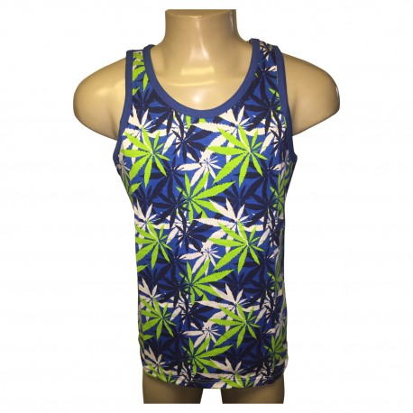 Wholesale Men's Switch Weed Tank Tops 6pcs Pre-packed