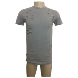 Wholesale Men's Henry & William Ripped Fashion T-Shirt 6pcs Pre-packed