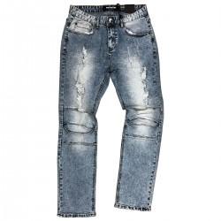 Wholesale Men's Fashion Distressed Biker Jeans 12 Piece Pre-packed