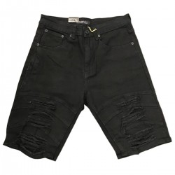 Wholesale Men's M Society Ripped Denim Shorts 12pcs Pre-packed